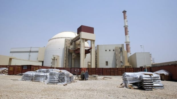 The reactor building of the Bushehr nuclear power plant outside the southern Iranian city of Bushehr. Iran's spy chief is blaming Western countries for the deaths of five of his country's nuclear scientists.
