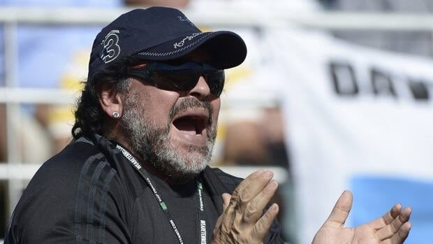 Maradona was dismissed as Argentina's national coach following the team's elimination in the quarterfinals of the 2010 World Cup in South Africa.