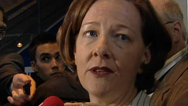 Alberta Premier Alison Redford, in Edmonton Wednesday, defends her suspension of trade envoy Gary Mar.