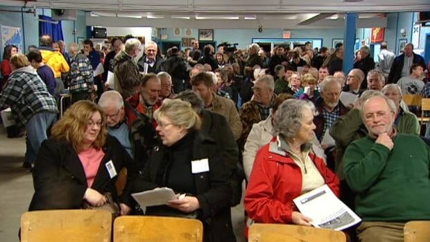 Hundreds of people attended a public information session in Sheet Harbour to discuss the proposed salmon farms.