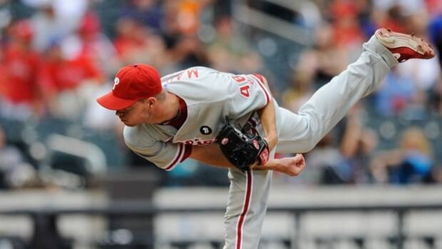 Ryan Madson, shown here playing for Philadelphia in 2011, has signed a one-year deal with the Los Angeles Angels.