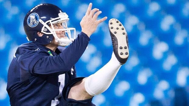 Noel Prefontaine helped the Argos win the Grey Cup last month, averaging 44.6 yards on seven punts in the championship game.