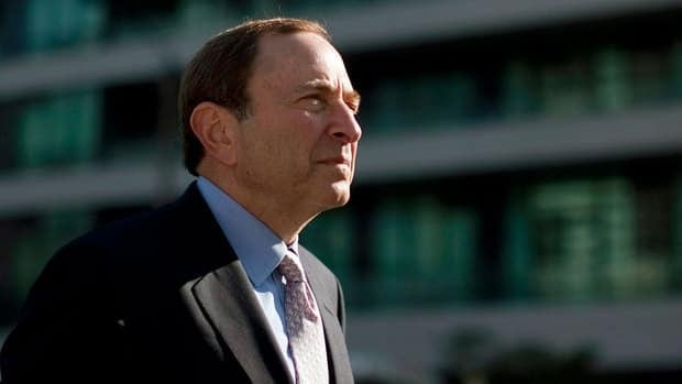 NHL commissioner Gary Bettman arrives at the NHL Players' Association offices in Toronto for Thursday's round of labour negotiations.