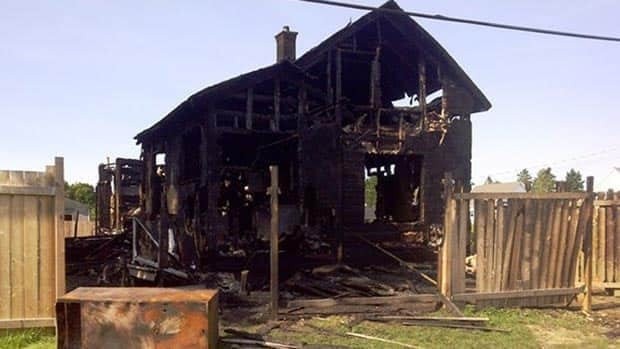 The Basque-Gagné family's home was destroyed in a Sept. 17 fire.
