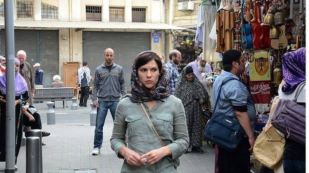 Actor Claire Danes, centre, stars in Homeland, which includes scenes filmed in Tel Aviv but standing in for Beirut -- a practice that has irritated people in both cities.