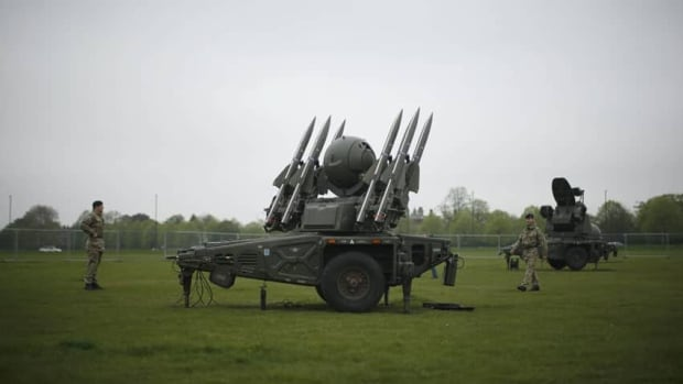 The British army is setting up missile launchers around London as a deterrent against terrorism during the Olympic Games.
