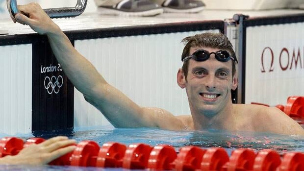 Canada's Ryan Cochrane reacts after the men's 1500-metre freestyle in London, a race in which the Victoria native finished second.