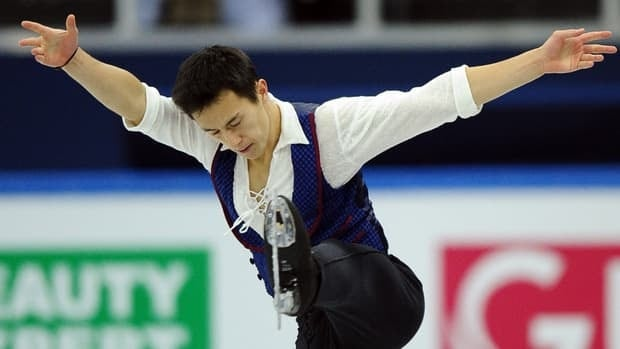 Defending world champion Patrick Chan placed third at the Grand Prix Final on Saturday in Sochi, Russia.