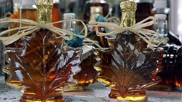 Maple syrup for sale in Quebec City. The liquid gold's antioxidants may have health potential.