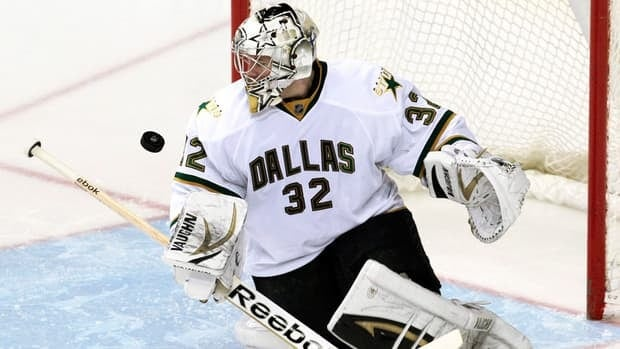 Dallas Stars goalie Kari Lehtonen has a 166-133-32 record with a 2.71 goals-against average and 21 shutouts in his career.