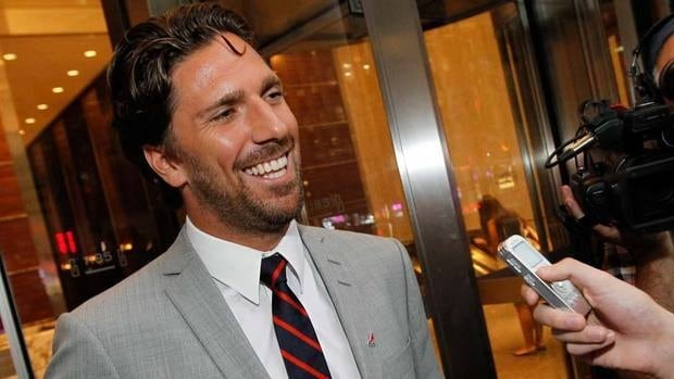 New York Rangers Henrik Lundqvist speaks to reporters Wednesday after a negotiation session between the NHL Players' Association New York.