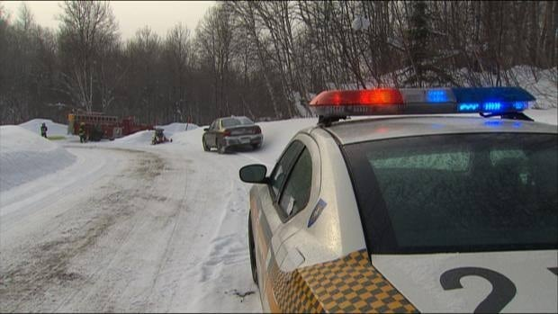 A 19-year-old snowmobiler was killed in Saint-Georges-de-Windsor, Que., about 180 kilometres east of Montreal, when a car crossing Route 249 hit the man.