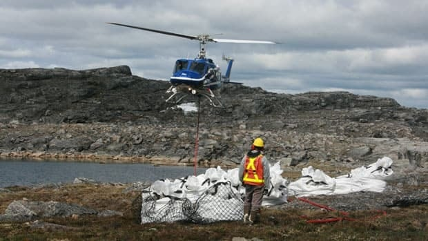 Bulk samples of kimberlite at Peregrine Diamond's Chidliak site in Nunavut.