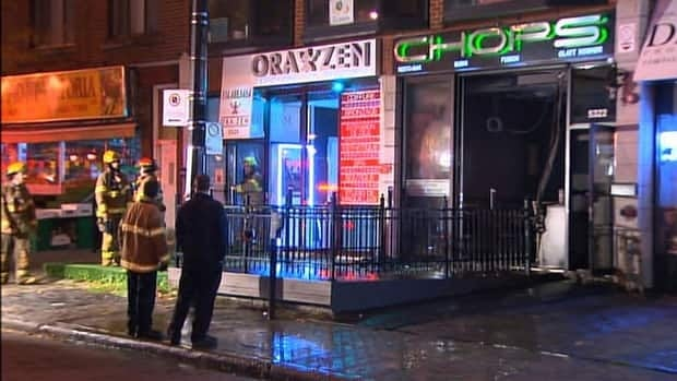 Montreal police said sprinklers in the restaurant quickly extinguished the fire.