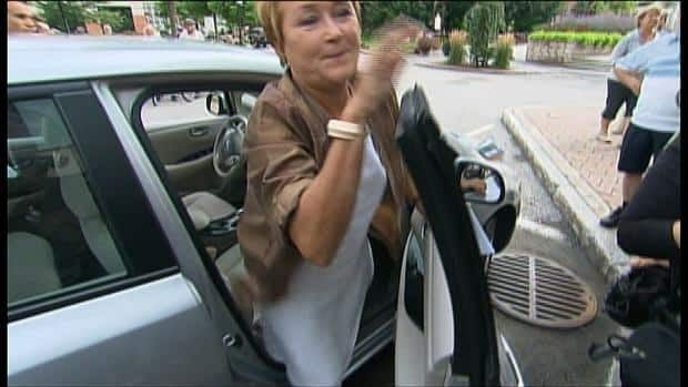 PQ leader Pauline Marois on a campaign stop in her bid for election on Sept. 4.