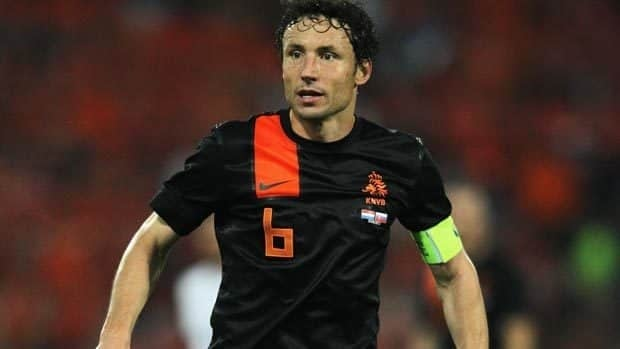 Dutch captain Mark von Bommel says the national team is motivated by their runner-up finish in the 2010 World Cup. Dean Mouhtaropoulos/Getty Images