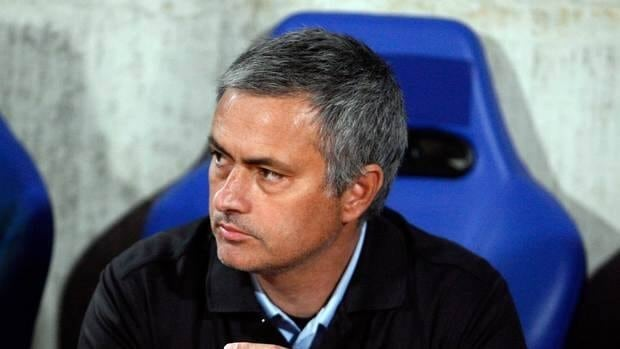 Real Madrid's coach Jose Mourinho during a Champions League quarterfinal soccer match between Apoel and Real Mardrid.