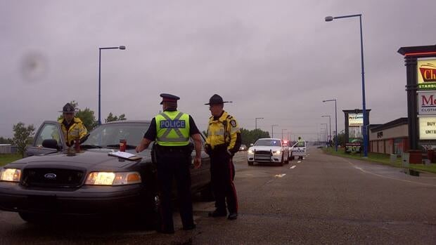 Edmonton police investigate a fatality on Gateway Boulevard Monday morning.