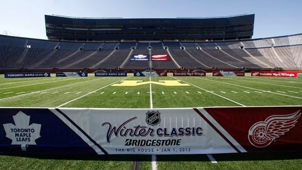 The NHL's Winter Classic is to be played in Ann Arbor, Mich., about 45 minutes from Windsor, Ont.