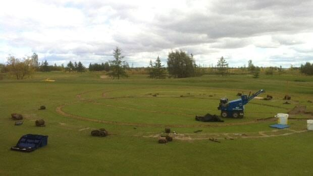 Some of the greens at the Southside Golf Course are damaged following an incident involving a truck late last week.