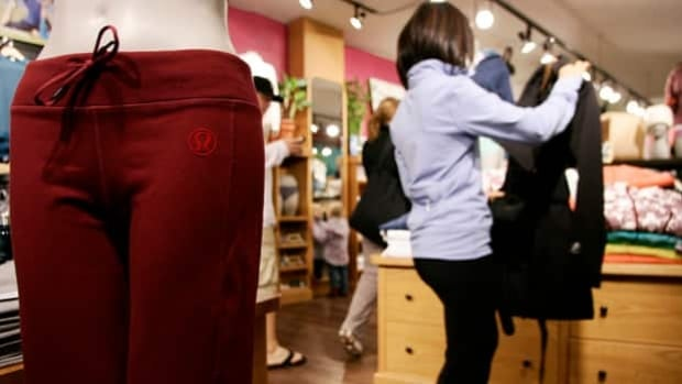 Yoga pants like these by Lululemon are popular among girls at St. Joseph's High School, but administrators are demanding they wear a long top as well.