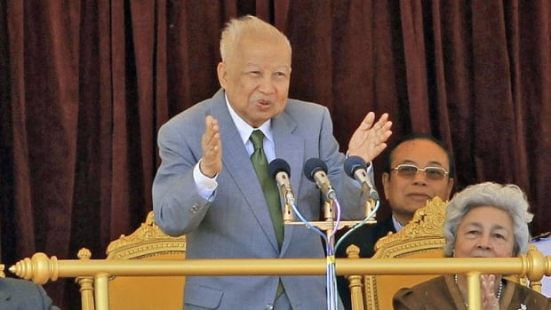 Cambodia's former King Norodom Sihanouk, centre, died of natural causes early Monday in Beijing at the age of 89.