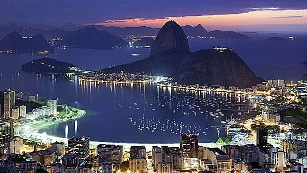 One side of the 'marvelous city' that is Rio de Janeiro, taken at dawn across Guanabara Bay.