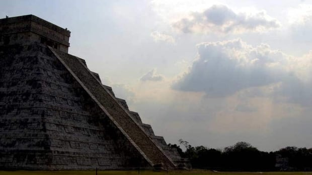 Mayan ruins on Mexico's Yucatan peninsula are all that remain of a civilzation researchers say was torn apart by war brought on by climate change.