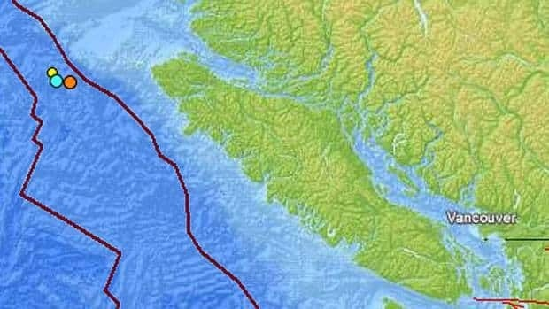 Three small earthquake have struck off Vancouver Island over the past week according to the U.S. Geological Service.