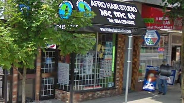 The current Afro Hair Studio storefront on Commercial Drive in Vancouver.