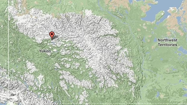 An earthquake struck an area near Keno, Yukon, Saturday.