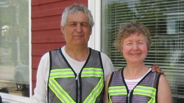 Elizabeth Sovis is shown here with her husband Edmund Aunger, in Port Elgin N.B. on Friday.