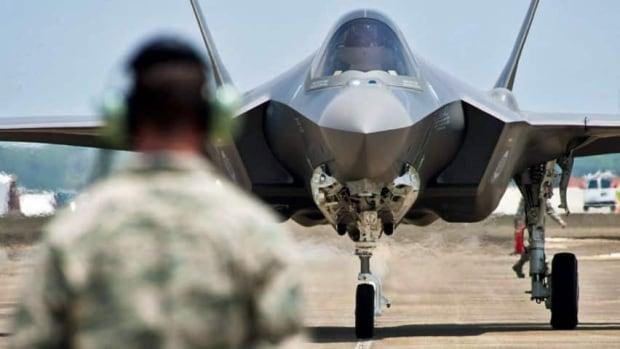 F-35 on runway