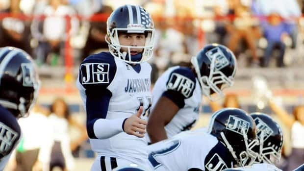 Casey Therriault, seen with Jackson State in 2011, was forgiven by the beating victim's mother, according to an ESPN report.