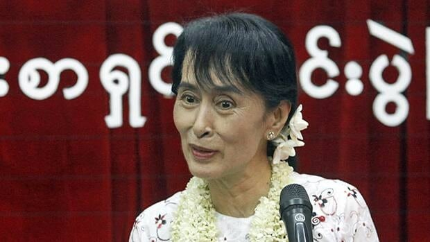 Burma's pro-Democracy Party, led by Nobel laureate Aung San Suu Kyi, rejoins politics and registers for future elections.