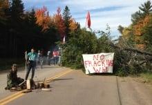 Shale gas Rexton barricades