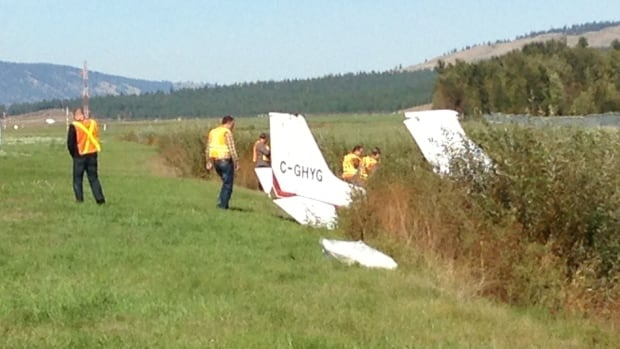 A student pilot lost control of his Cessna while attempting a touch and go maneuver, crashing into a creek about 400 metres from the runway.