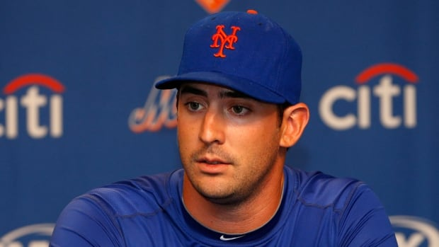 Pitcher Matt Harvey was diagnosed with a torn ulnar collateral ligament on Aug. 26.