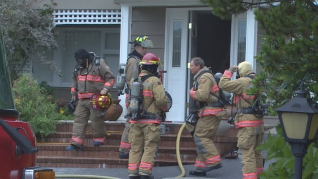 About 20 firefighters and five engines were required to put out a blaze in West Vancouver today.