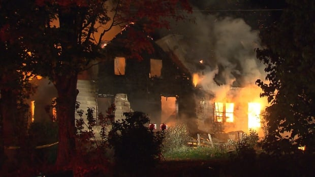 Seven people were inside the home when it caught fire overnight.