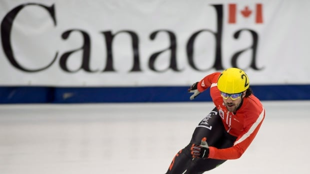 Charles Hamelin, shown here in August, is currently on top of the World Cup short-track standings.