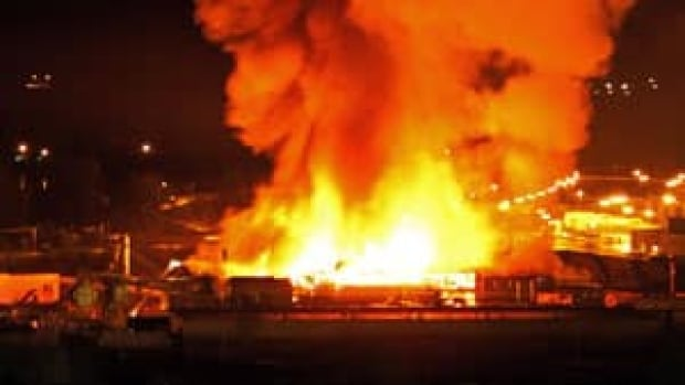 A fire destroyed much of the Lakeland Mills sawmill in Prince George, B.C.