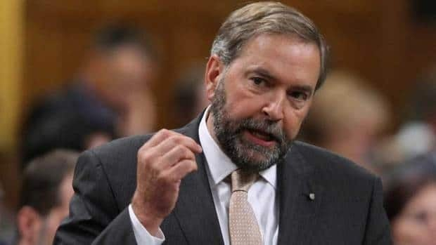 NDP Leader Tom Mulcair said during Quebec's provincial election that the party should try to build a provincial cousin, but he has since put the idea on hold.