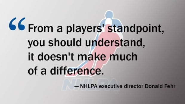 NHLPA executive director Donald Fehr's response to the terms of the NHL's latest offer in their negotiations for a new collective bargaining agreement.
