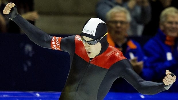Canadian Denny Morrison, the defending world champion, has won another men's 1,500-metre race - this one at the Fall World Cup Long Track Trials.