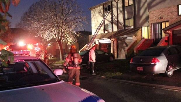 Brampton firefighters were called out to a fire in a townhouse on Saturday morning.