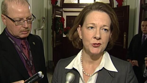 Premier Alison Redford repeated on Thursday that she did not make the final decision to award the tobacco lawsuit litigation to her ex-husband's law firm.