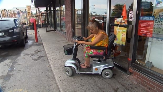 Couche-Tard said Effy Louridas is not allowed in the store because she ran over someone's foot.