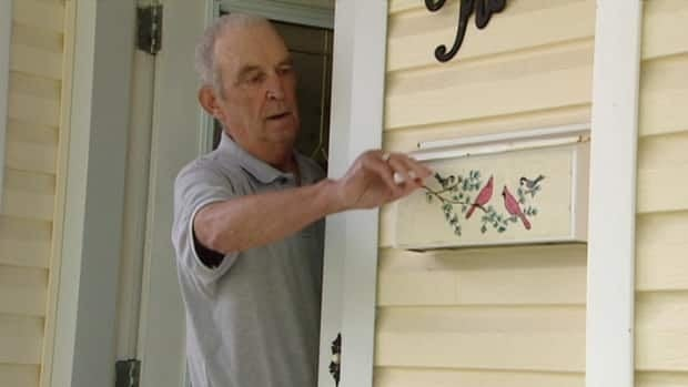 To add insult to missing mail, Daved Leslie's home was broken into on the same weekend.