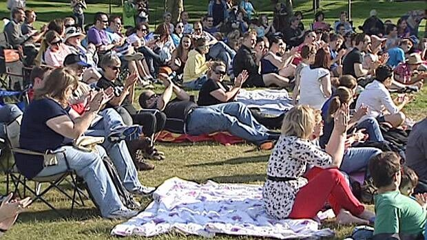 An appreciative audience gathered for a weekend performance of A Midsummer Night's Dream in Bannerman Park in St. John's.